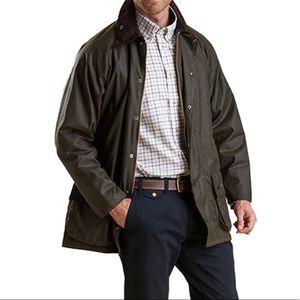 Barbour Beaufort Wax Jacket Coat Plaid Lining